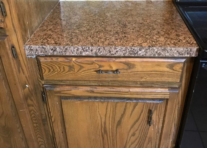 replacing laminate counters in a kitchen